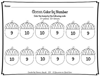 Early Number Activities {Working with Numbers 9 & 10}