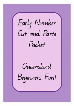 Early Number Cut and Paste - Queensland Beginners Font