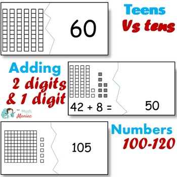 Early Number Puzzles Bundle Grade 1 Common Core Standards