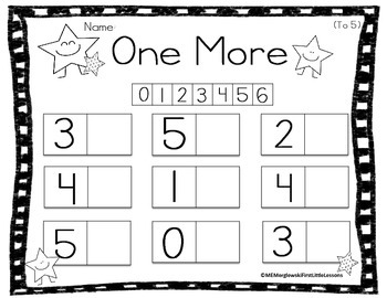 Early Numeracy: One More and One Less