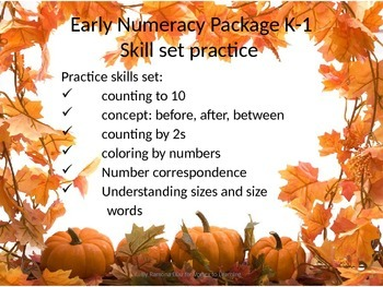 Early Numeracy Practice Skills set