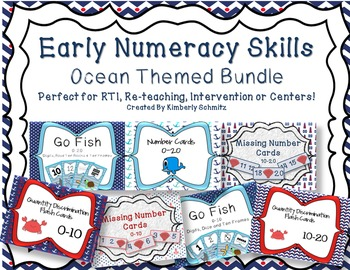 Early Numeracy Skills Flashcard Bundle- Ocean Themed