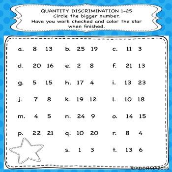 Early Numeracy Workbook (Progress monitor special education)