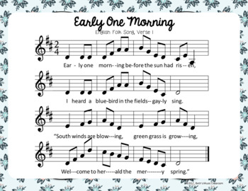 Early One Morning - Spring English Folk Song with Orff Accompaniment