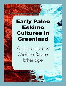 Early Paleo Eskimo Cultures of Greenland