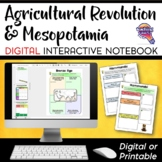 Early Peoples & Mesopotamia DIGITAL Interactive Notebook Unit World History