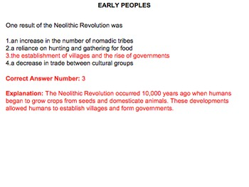 Early Peoples, Neolithic Revolution, Early River Civilizations