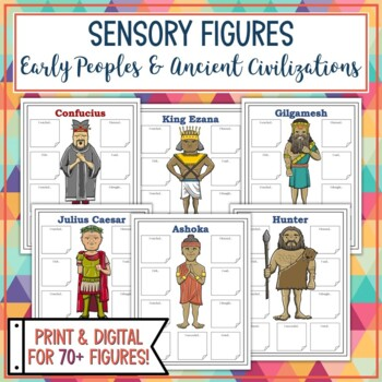 Early Peoples and Ancient Civilizations Sensory Figures Bundle