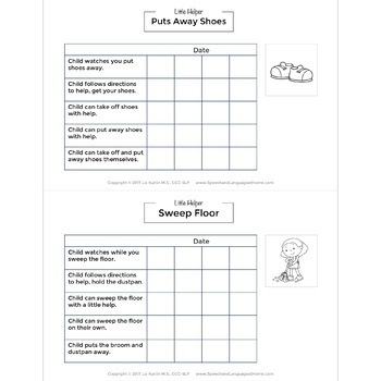 Early Intervention Handouts: Life Skills Rubric and Recipes