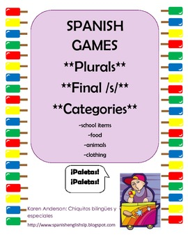 Early Plurals Games SPANISH