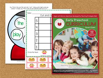 Early Preschool Yearlong Curriculum - 1st Quarter