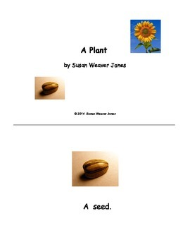 Early Reader:  A Plant