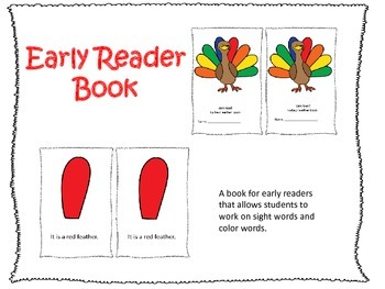 Early Reader Book: Colors of a Turkey Feather