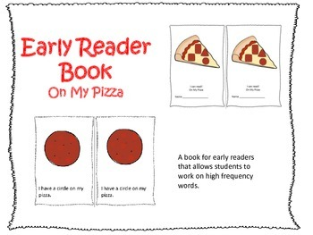 Early Reader Book: On My Pizza