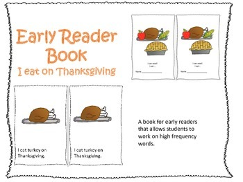 Early Reader Book: Thanksgiving Dinner