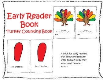 Early Reader Book: Turkey Feather Counting Book