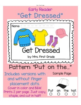 """Early Reader """"Get Dressed""""  - Differentiated!"""