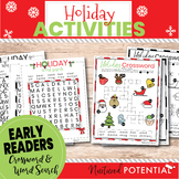 Early Readers (K-2) First Grade Christmas Word Search & Ch