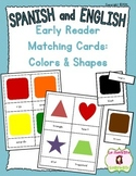 Early Reader Matching Cards: Colors and Shapes (Spanish and English)