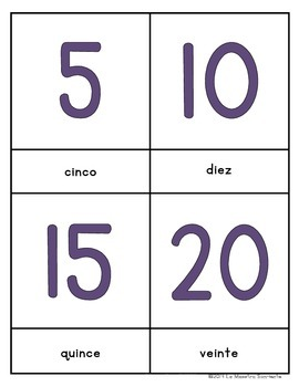 Early Reader Matching Cards: Numbers and Counting (Spanish)