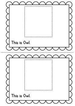 Early Reader: Owl {Cut Paste Emergent Readers}
