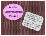 Early Reader Reading Comprehension Packet #2