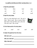 Early Reader Reading Comprehension Packet