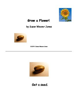 Early Reader Set of Three Nonfiction Books on Plants with Bonus