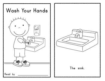 Wash Your Hands Early Reader Book Kindergarten Routines Back to School