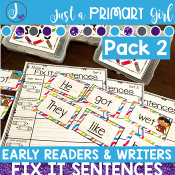 Early Reader and Writer Sight Word Centers Pack 2