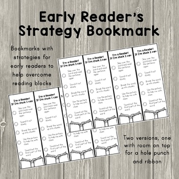 Early Reader's Strategy Bookmark