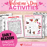 Early Readers (K-2) First Grade Valentines Day Word Search
