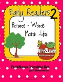 Early Readers Picture Words Match Ups [Set 2]
