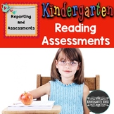 Reading Benchmark Assessments and Checklist Packet Kindergarten
