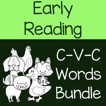 Early Reading CVC Words BUNDLE with Letters A, I, O, U and E