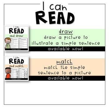 Early Reading Comprehension Skills -  [I Can Read] BUNDLE