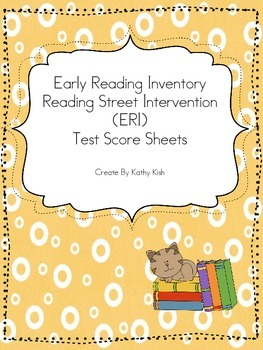 Reading Street Early Reading Intevervention (ERI) Scoring Pages