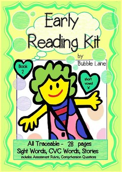 Comprehension, Fluency & Expression   Book 2 Early Reading Kit (Short Vowel 'a')
