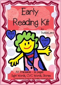 Comprehension, Fluency & Expression  Book 3 Early Reading Kit (Short Vowel 'e')