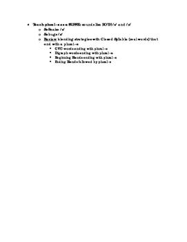 Early Reading: Phonics Instructional Continuum
