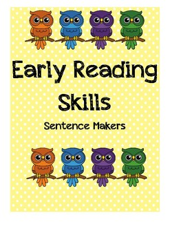 Early Reading Skills Sentence Makers