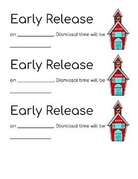 Early Release Slips