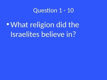 Early Religions Jeopardy Review Game