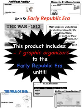Early Republic Era, Graphic Organizers