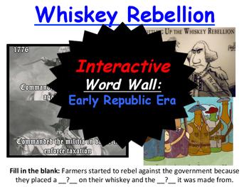 Early Republic Era, Interactive Word Wall