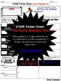 Early Republic Era, STAAR Review Sheet