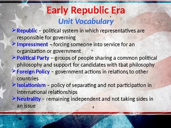 Early Republic Era, STAAR Powerpoint Lecture