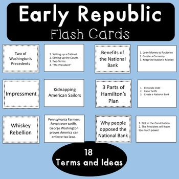 Early Republic Flash Cards