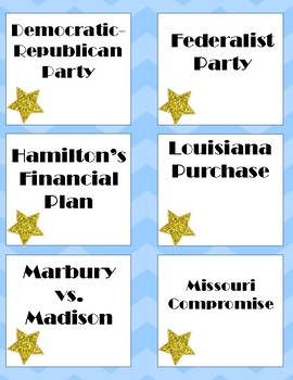 Early Republic STAAR review Game