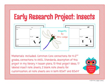 Early Research Project: Insects